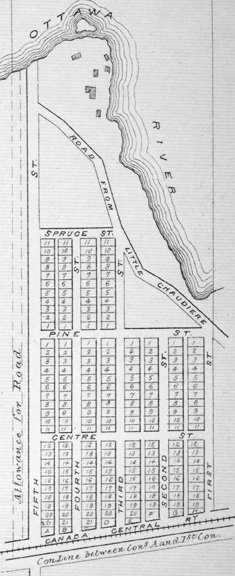 Mechanicsville, Ottawa, Ontario, Canada, 1879 Map