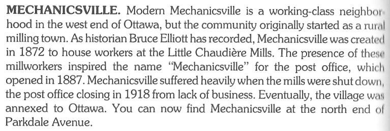 Mechanicsville, Ottawa, Ontario, Canada