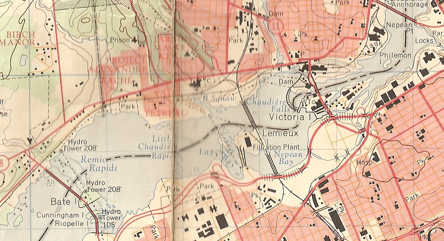 Mechanicsville, Ottawa, Ontario, Canada, Topographic Map