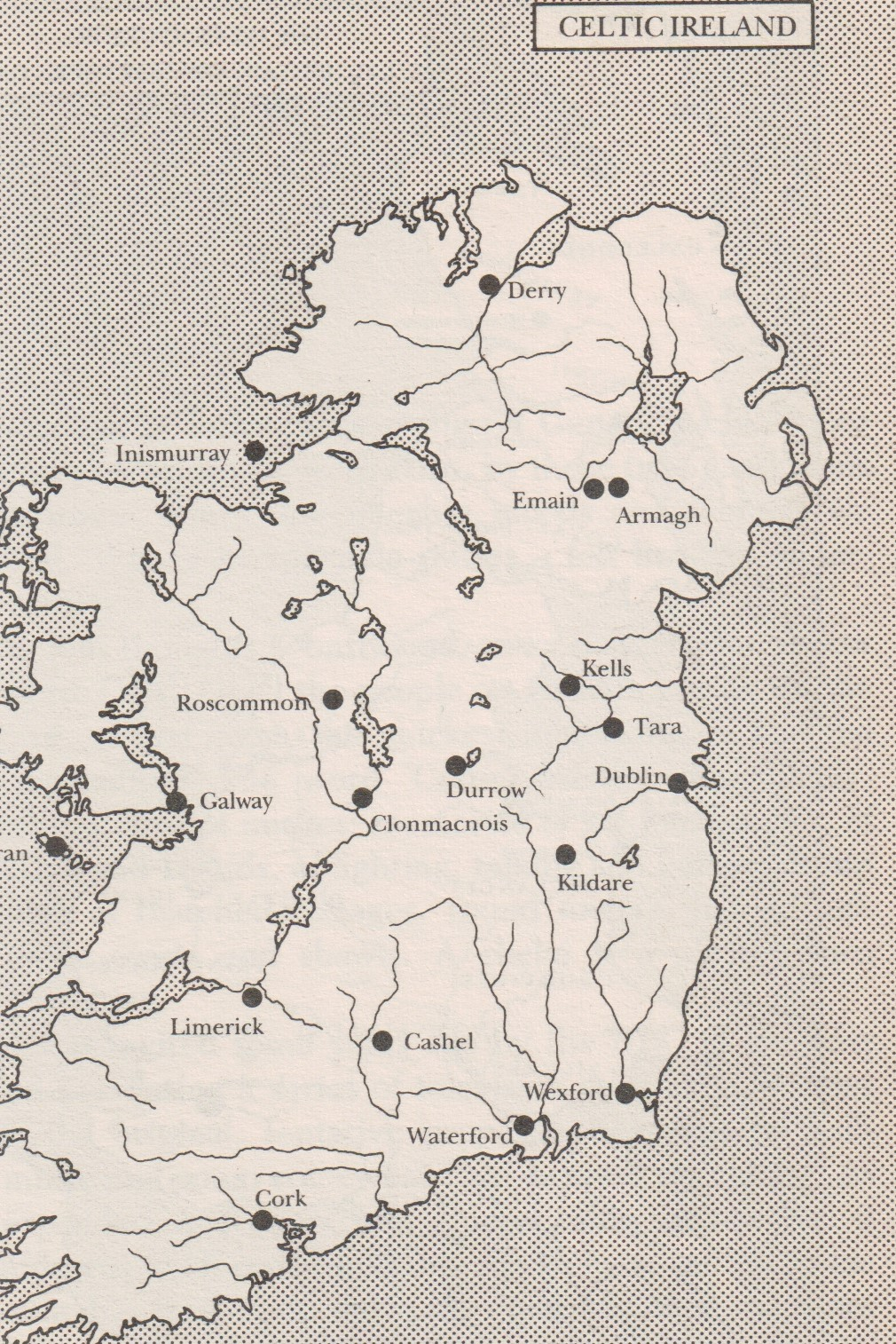 Map of Celtic Ireland