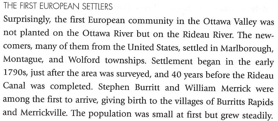 First European Settlers - Merrick and Burritt