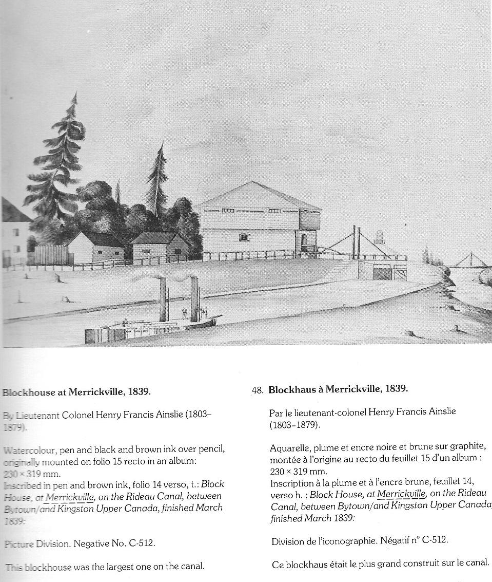 merrickville block house 1839
