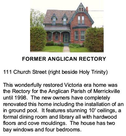Merrickville. Ontario, Canada - Anglican Rectory
