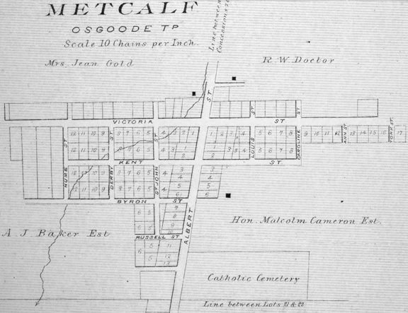 Metcalfe Village in 1879