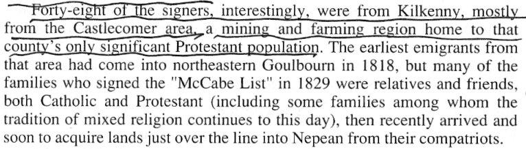 County Kilkenny emigrants to Canada, 1800's
