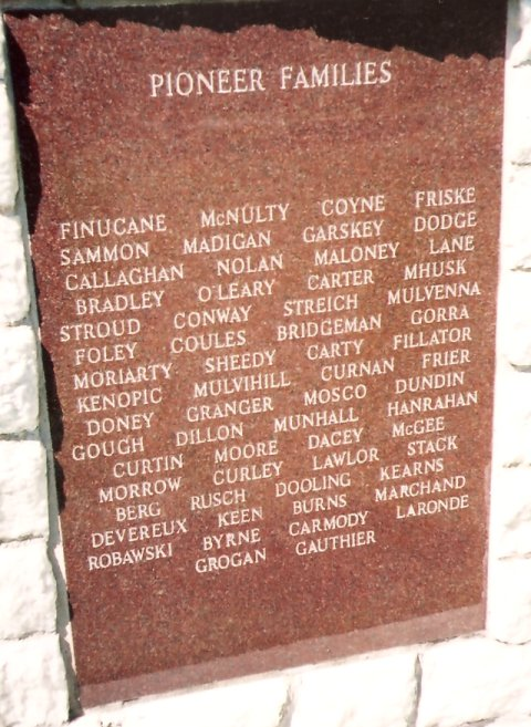Memorial for Pioneers at Mount St. Patrick, Ontario, Canada