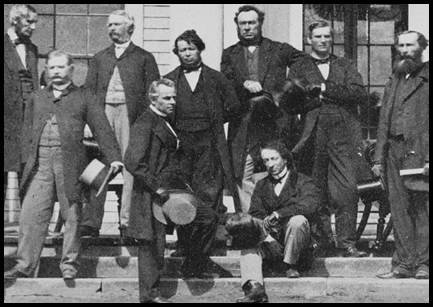 Sir John A. Macdonald with the Fathers of Confederation