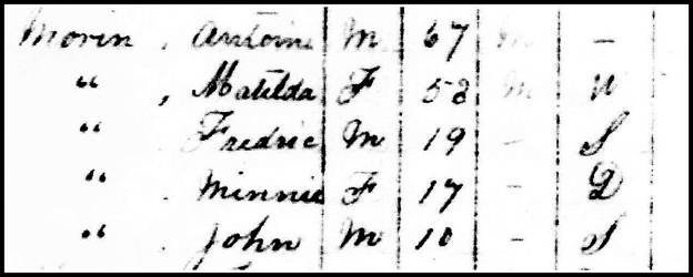 Antoine Morin in the 1891 Census