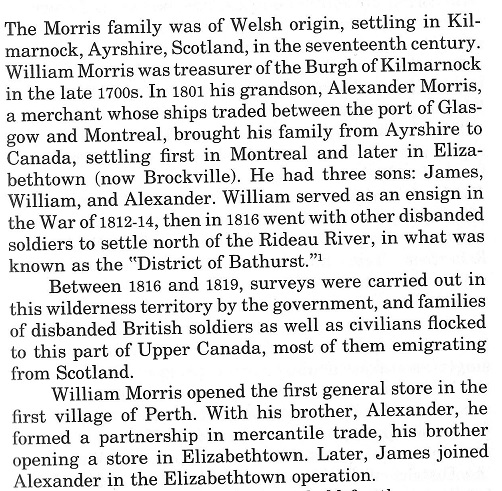 The Genealogy of the family of Edmund Morris, painter from Perth, Ontario