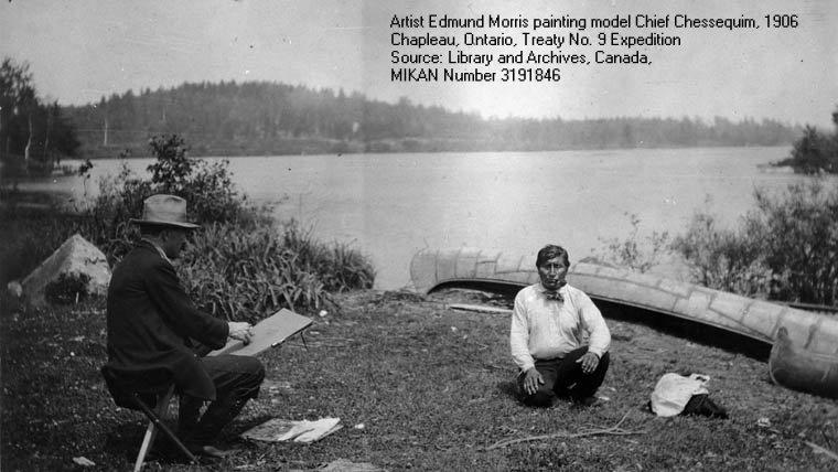 Edmund Morris painting Ojibway Chief, Chapleau, Ontario, 1906