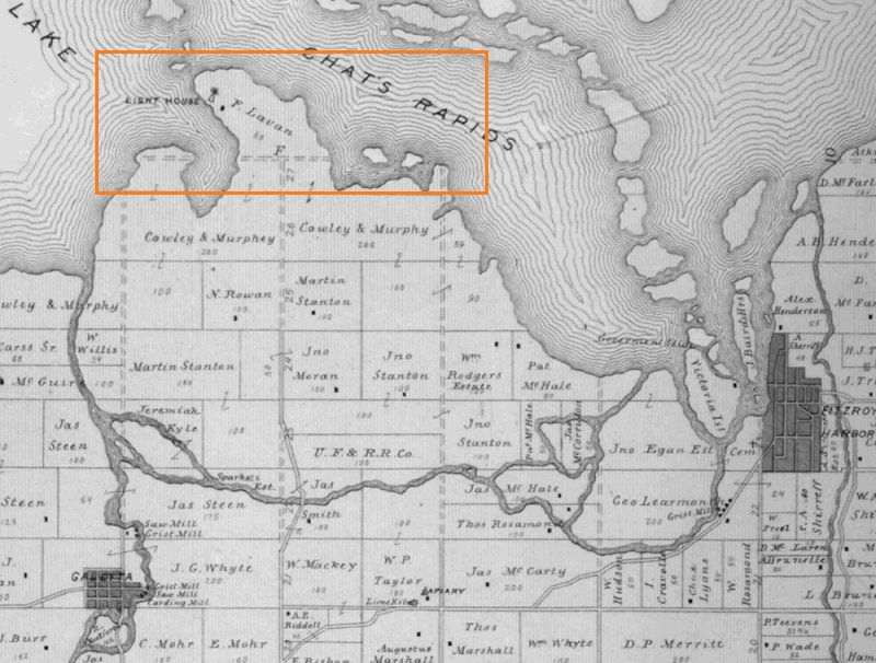 Morris Island Topography in 1879