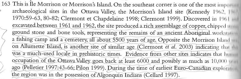 Text Block about Morrison or Morrisons Island by Logan