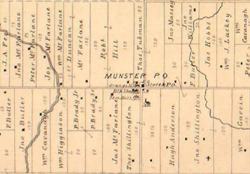 Munster Hamlet Map, Goulbourn Township, Ontario, Canada, 1879