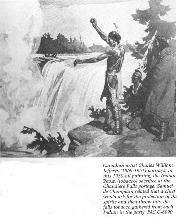 First Nations Tobacco Sacrifice at Chaudiere Falls