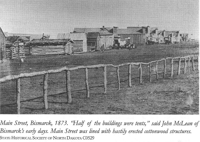 Main Street, Bismarck, North Dakota, 1873
