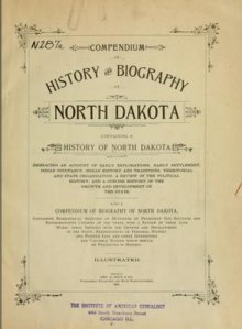 Book: History and Biography of North Dakota, 1900