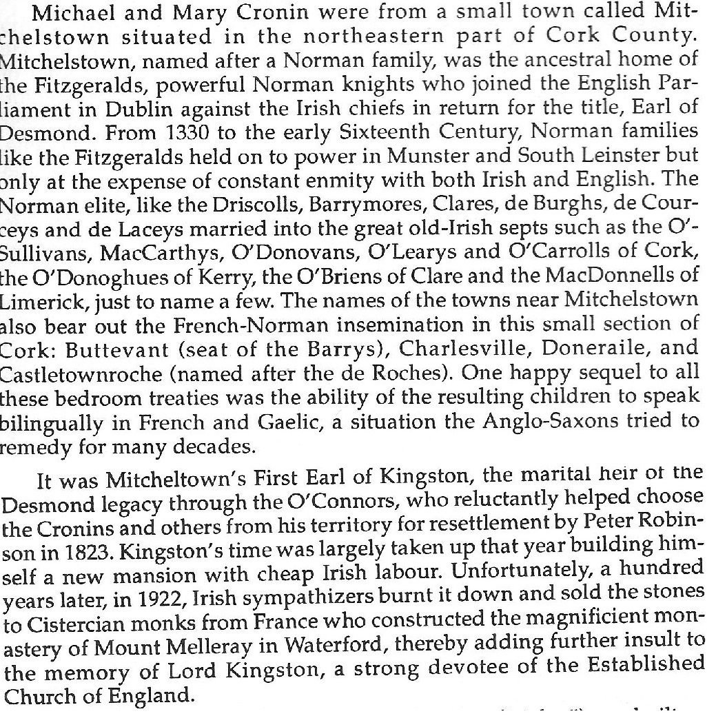Map of North County Cork in 1821