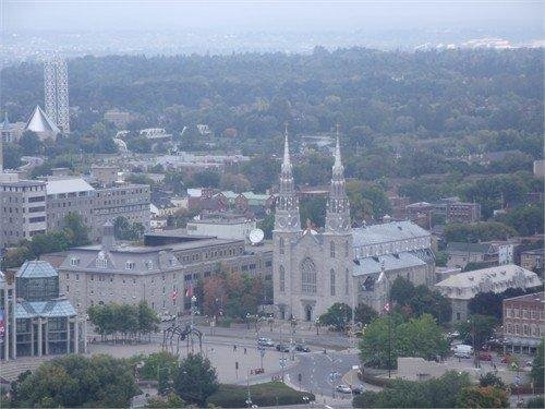 Notre Dame Cathedral, Ottawa, Canada, Photo from the Peace Tower