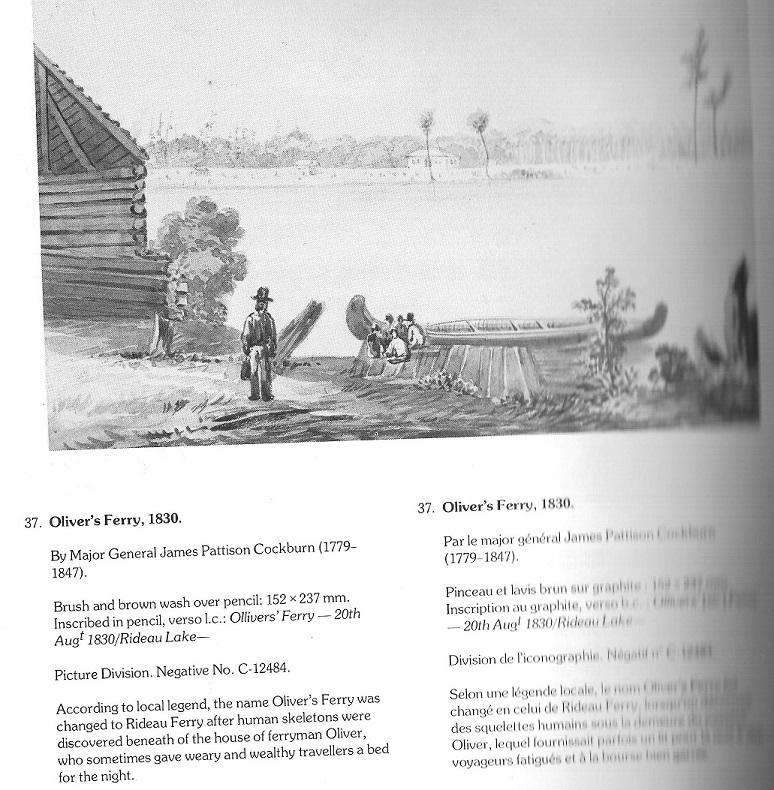 Painting by James Pattison Cockburn: Oliver's Ferry, 1830