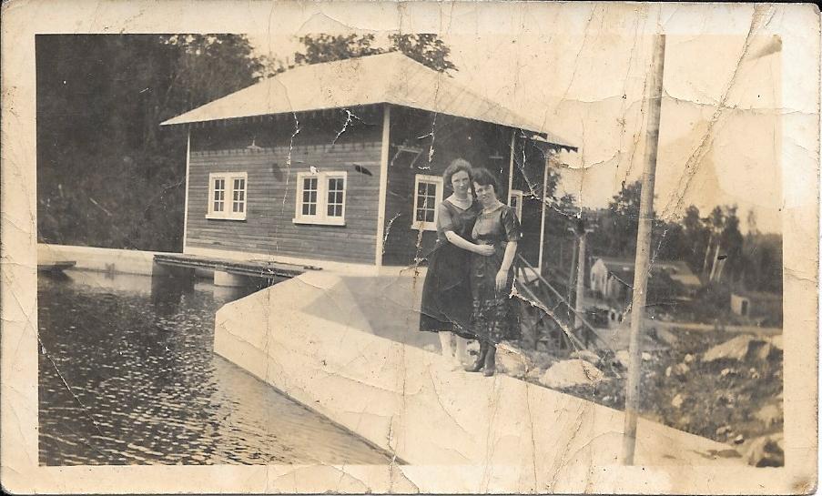 Dam near Ompah, Ontario, Canada, early 1900's?