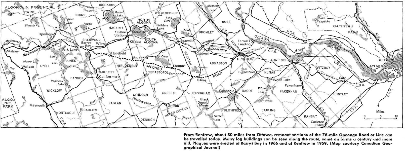 Opeongo Line, Opeongo Road, Renfrew County, Ontario, Canada