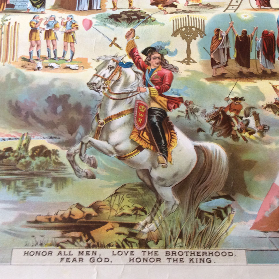 Orange Order, Poster of King Billy crossing the Boyne River
