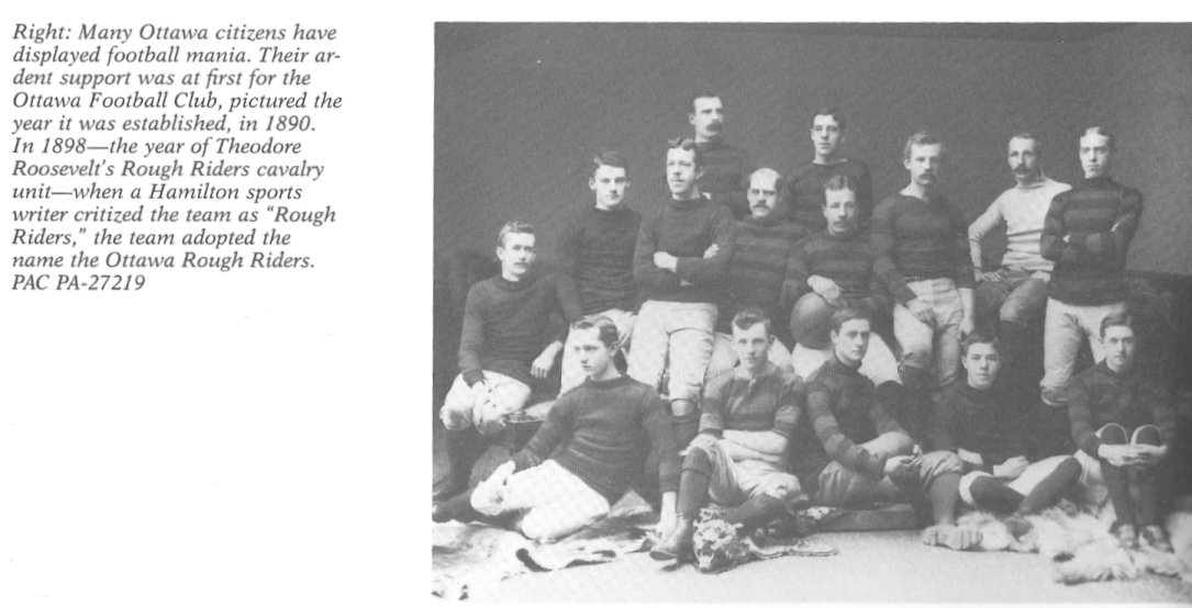 1890 Ottawa Rough Riders Football Team