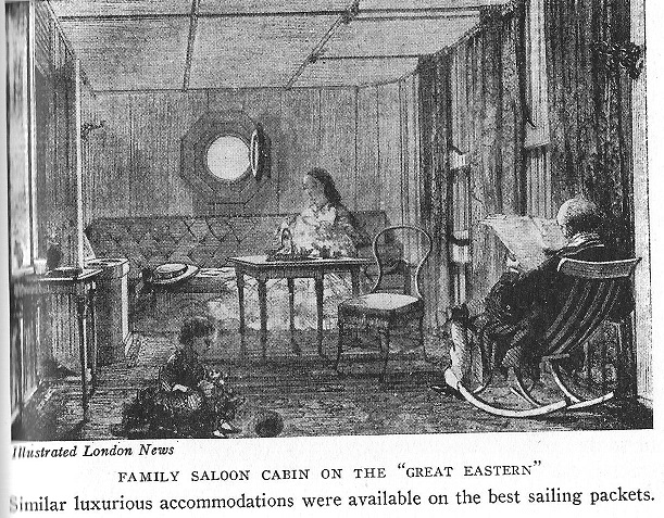 Example of Luxurious Cabin on Packet Ship, c. 1850