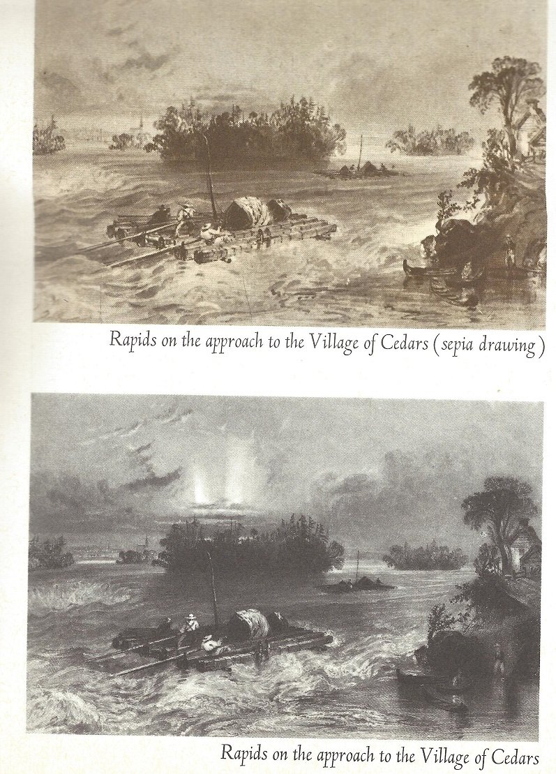 Cedar Rapids on the St. Lawrence River, pic, c. 1840