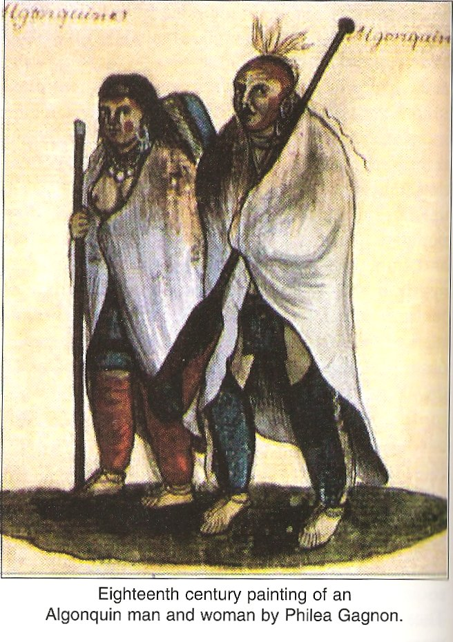 Painting of Two members of the Algonquin Indian Band