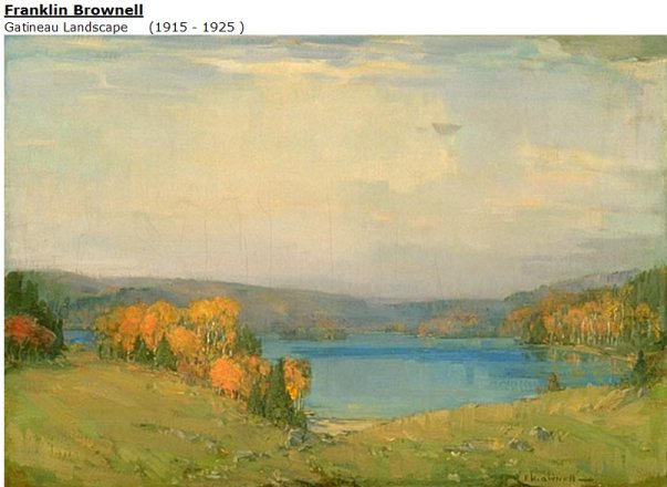 Gatineau Landscape by Franklin Brownell