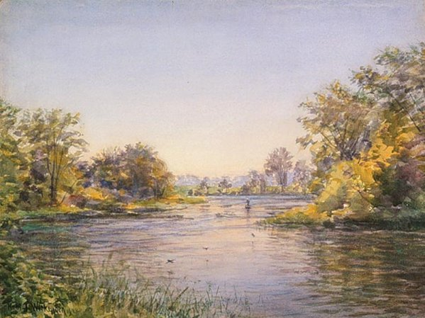 Painting by Robert Wickenden, Summer Afternoon, Rideau River, 1922