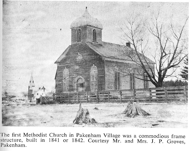 Pakenham Methodist Church built 1841