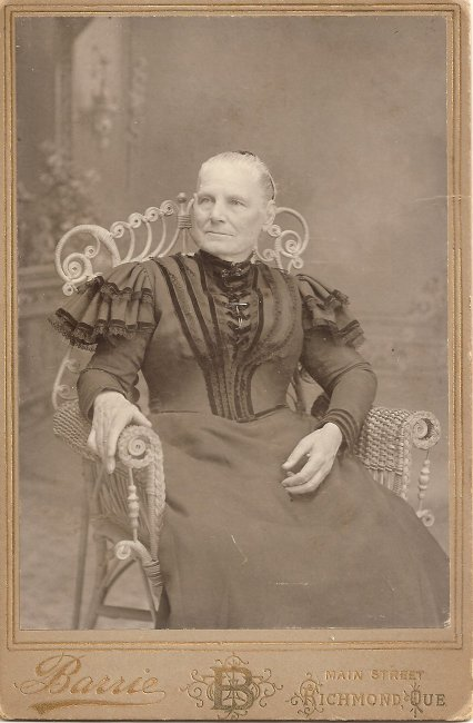 Sarah Moore Parker, photo taken in Richmond, Eastern Townships, Quebec, Canada
