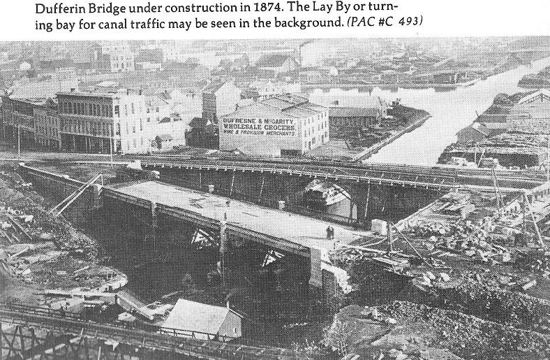 Dufferin Bridge Under Construction in 1874