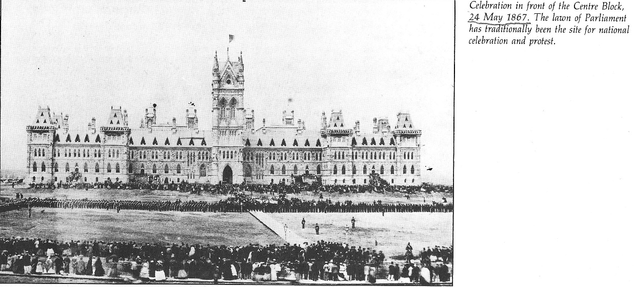 Parliament Building, Center Block, 1867, before the 1900 fire