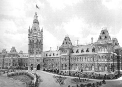 Parliament Buildings, Ottawa, Ontario, Canada, 1910