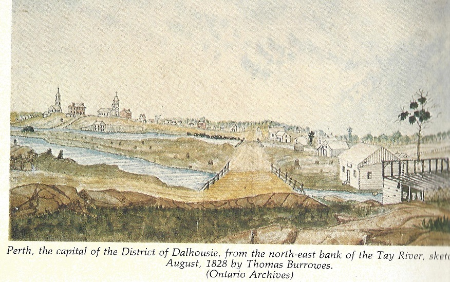 Perth by Burrowes from Tay River, August 1828
