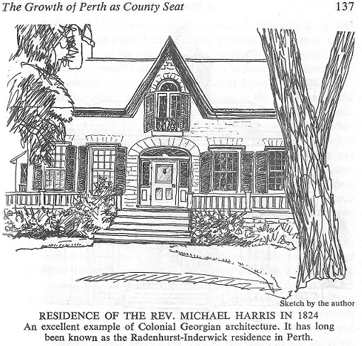 Residence of Reverend Michael Harris in Perth, 1824