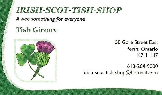 Irish-Scot-Ish-Shop in Perth Ontario(1817-1832)