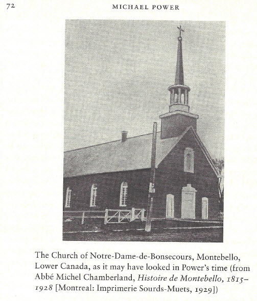 Picture of Church at Montebello, Quebec, early 1830's, Notre Dame de Bonsecours