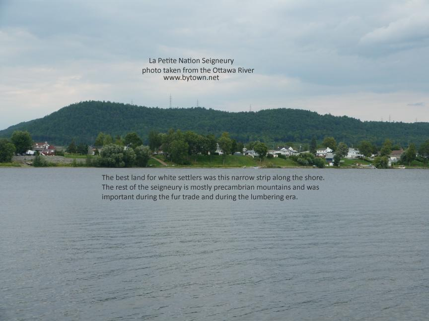 Photo showing the Petite Nation Seigneury from the Ottawa River