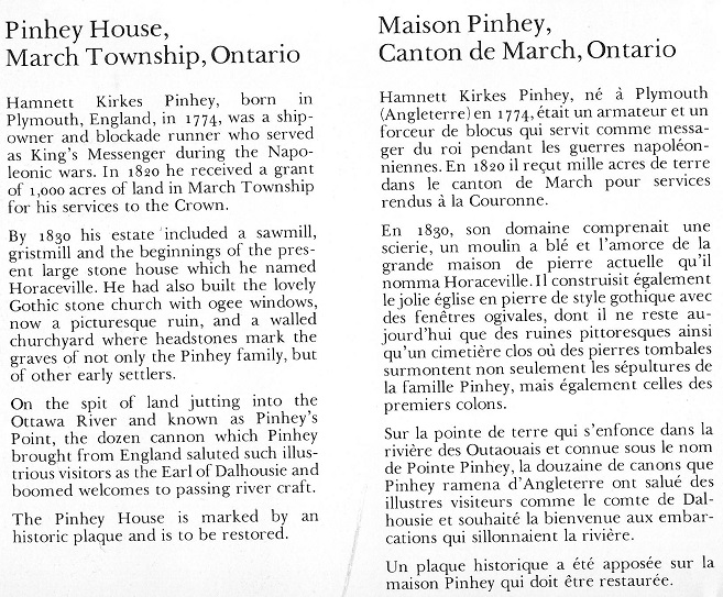 House at Pinhey's Point - text