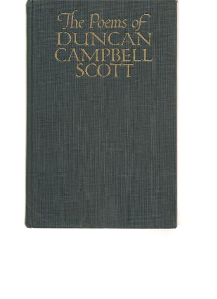 Book - The Poems of Duncan Scott Campbell, 1926