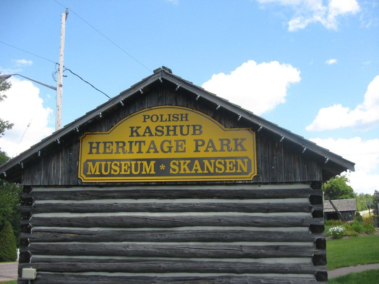 Polish Kashub Heritage Park Museum sign