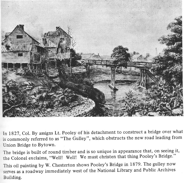 Pooleys Bridge in Ottawa in 1879