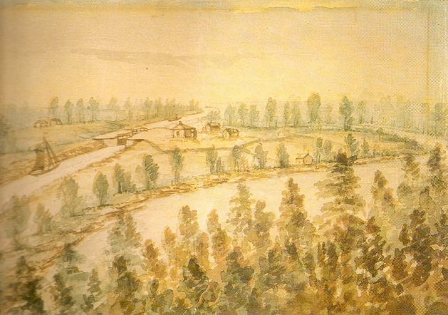 Poonamalie Lock, near Smiths Falls, Ontario, Canada, 1845