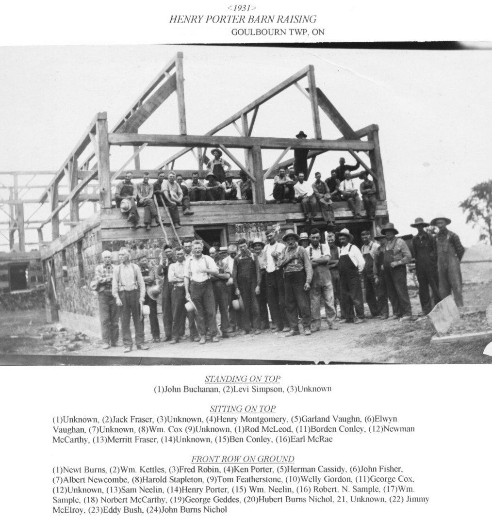 1931 Barn Raising, Henry Porter