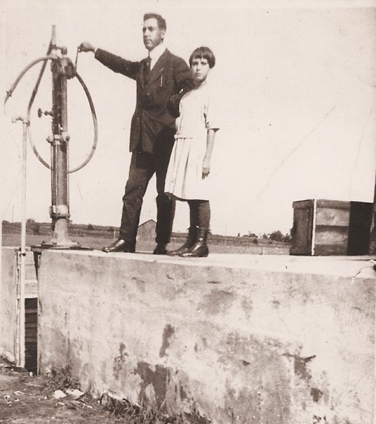 Alexander Potvin and daughter Gabrielle at Manotick Station