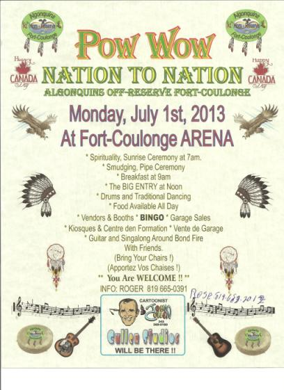 Pow Wow at Fort Coulonge, Quebec, Canada, July 1, 2013